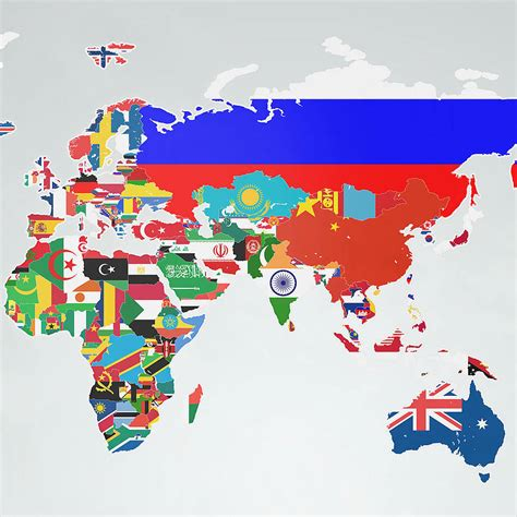 Wall Sticker Map Of The World flags of the world map wall sticker by the binary box