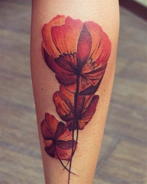 poppy flower tattoo designs 50 best flower tattoos on leg