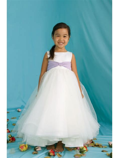 Princess Pearl Flower Girl Dress Tulle Skirt Sprinkled