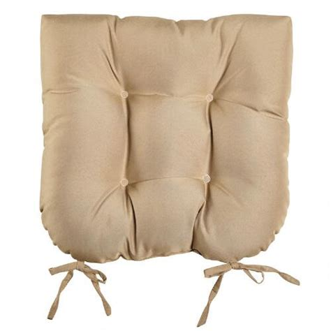 tufted outdoor chair cushions solid color single u tufted indoor outdoor chair cushion