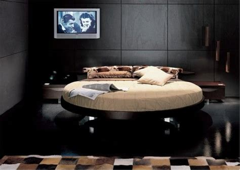 circle beds italian furniture modern leather round beds by prealpi