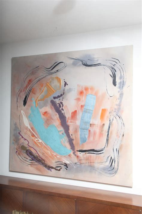 Florida Tomkins large abstract painting by cheron tomkins on antique row