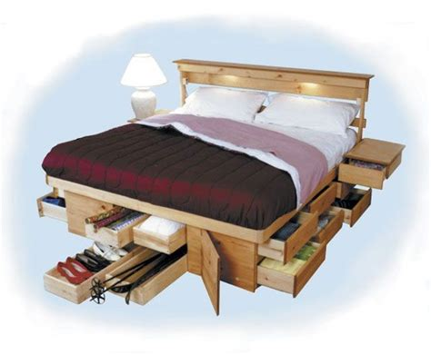 bed frames  built  storage platform bed