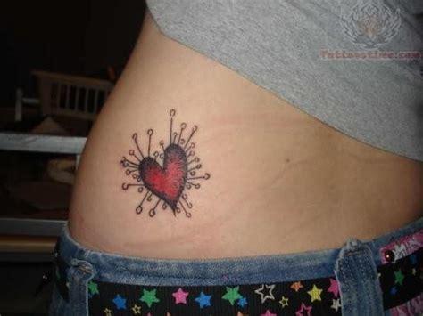 tattoo love on hip red heart love tattoo on hip
