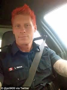 toronto police officer dyes his hair pink to fight