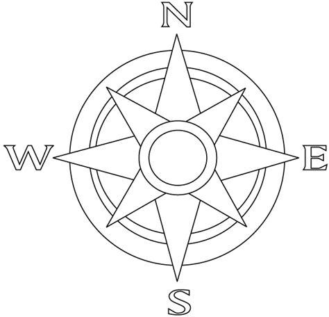 free coloring page compass rose free coloring pages of cardinal directions