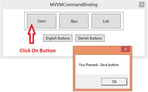 mvvm pattern history passing command parameter for buttons within an