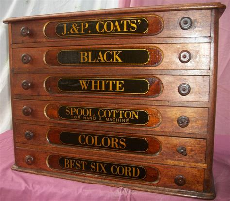 6 drawer spool cabinet j p coats 6 drawer spool cabinet brass lantern antiques