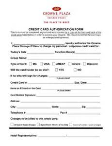 crown plaza authoraztion form fill online printable