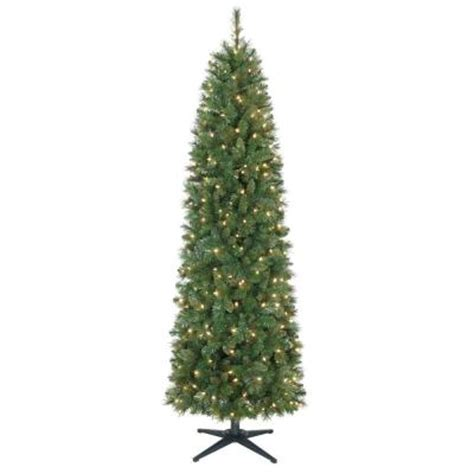 7 ft wesley mixed spruce pencil artificial christmas tree