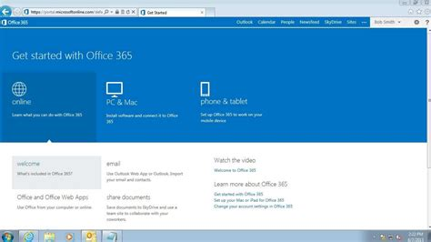getting started office 365 login and portal home