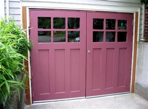 swinging garage doors hand made custom swing carriage house garage doors and