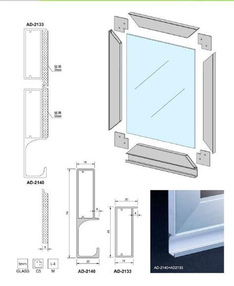 aesthetics glass door frame free edge aluminum extrusion