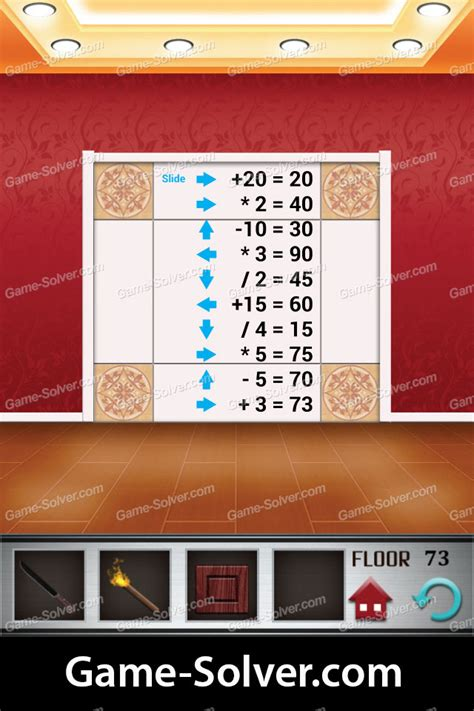 100 floors level 70 explanation 100 floors level 73 solver