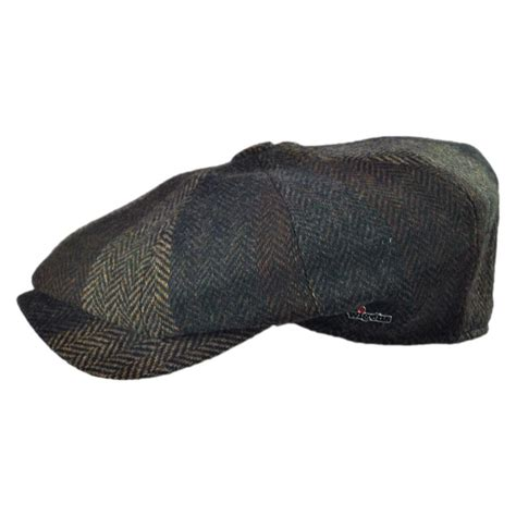 Patchwork Newsboy Cap - wigens caps magee patchwork newsboy cap newsboy caps