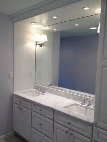 built in vanity white cabinets traditional bathroom