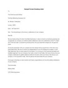 Formal Letter In Greetings Sle Formal Greeting Letter Hashdoc