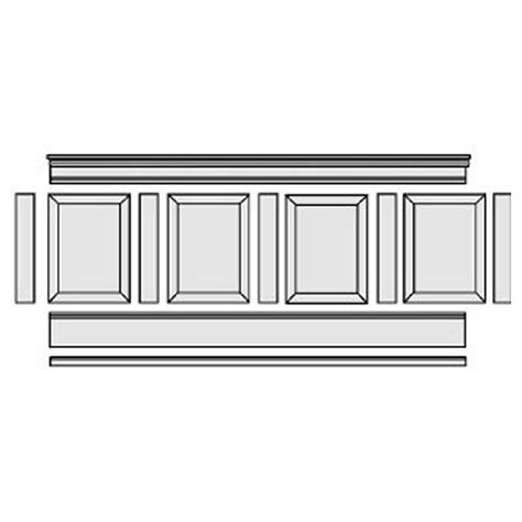 Raised Panel Wainscoting Lowes Elite Trimworks Corp Rpw Kit 37 Quot H X 96 Quot L Adjustable