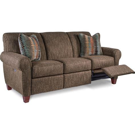 bennett black leather reclining sofa la z boy bennett duo power reclining sofa with usb