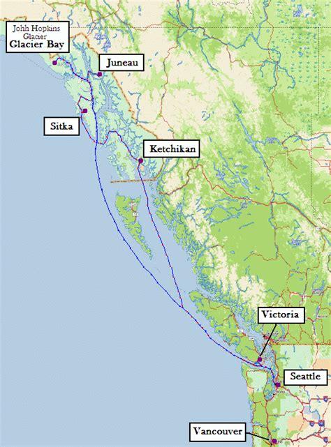 seattle to juneau map alaska cruise day 3 glacier bay