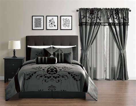 charcoal grey comforter bedding sets