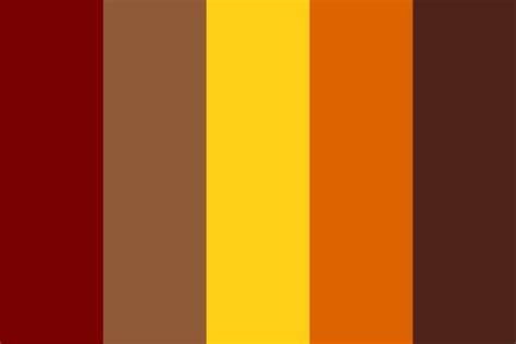 fall color pallette fall time color palette