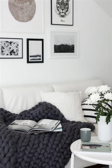 Sofa Decken by Decordots Chunky Wool Blanket From Ohhio