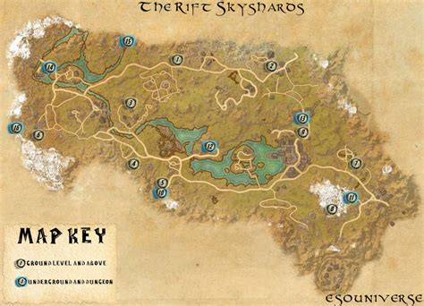 skyshard eso locations map elder scrolls online the rift skyshard location guides