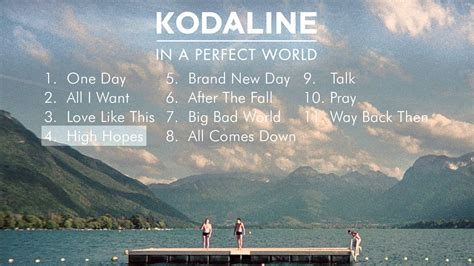 Kaos Kodaline In A Word kodaline in a world album sler
