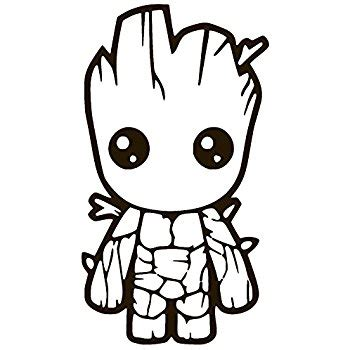 Skateboard Wall Stickers amazon com baby groot guardians of the galaxy white