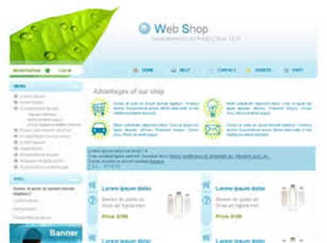 free css templates for asp net online shopping web shop free website template free css templates free css