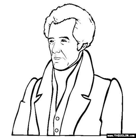 coloring pages with the name jackson yr 3 week 12 andrew jackson online coloring page