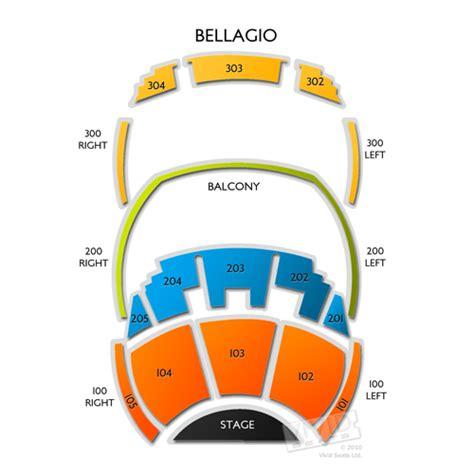 bellagio seating chart seats