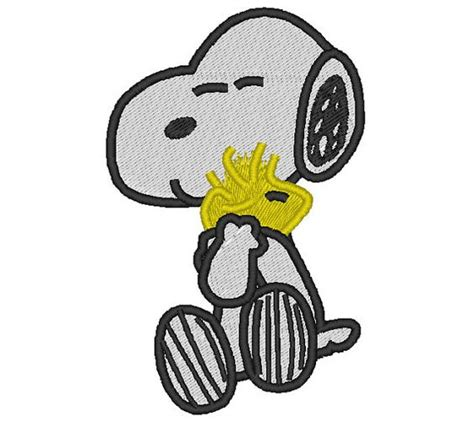 snoopy with bird embroidery pinterest embroidery