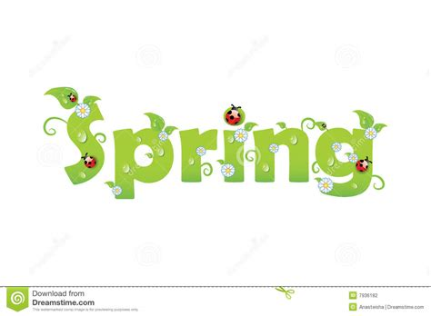 printable letters spring spring letters stock photography image 7936182