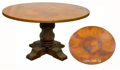 rustic copper table copper round table round copper table