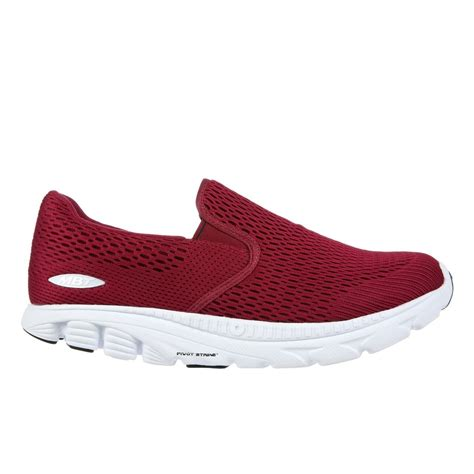 mbt speed 17 slip on womens walking shoes wine