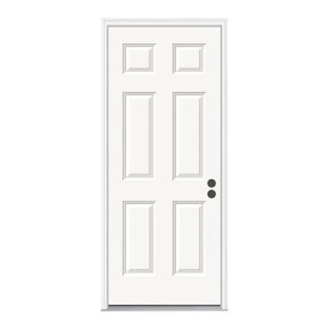 78 Inch Exterior Door Jeld Wen 32 In X 78 In 6 Panel Primed Premium Steel Prehung Front Door With Brickmould