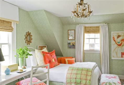 green and orange bedroom jll design march 2013