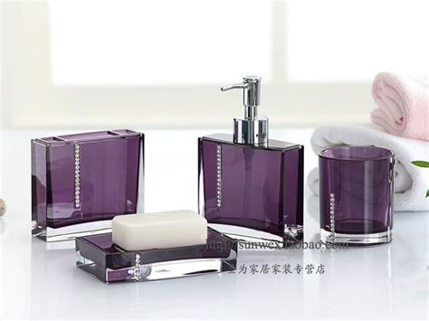 Aubergine Bathroom Accessories Purple And Gray Bathroom Decor Home Deco Plans