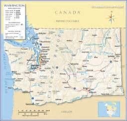 washington map reference map of state of washington usa nations