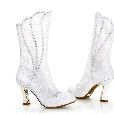 Wedding Shoe Boots by Compare Prices On White Bridal Boots Shopping Buy