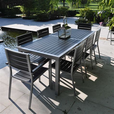 table et chaise de jardin en aluminium chaise de jardin anthracite