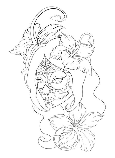 girl skull tattoo designs collection of 25 sugar skull and roses designs
