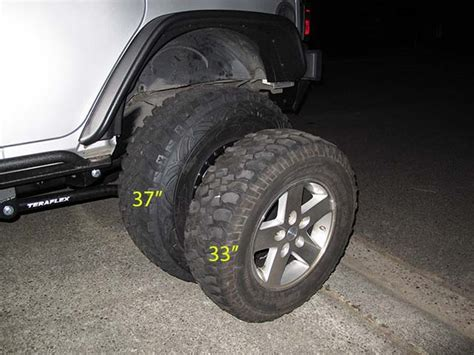 Jeep Stock Wheel Size Jeep Rubicon Comes Stock With What Tire Size Autos Post