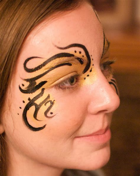 tribal pattern face paint face painting illusions and balloon art llc mardi gras