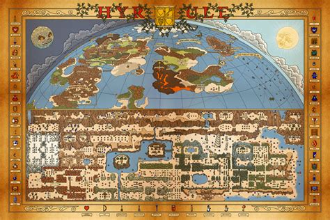 legend of zelda wall map hand drawn hyrule maps open for pre order zelda universe