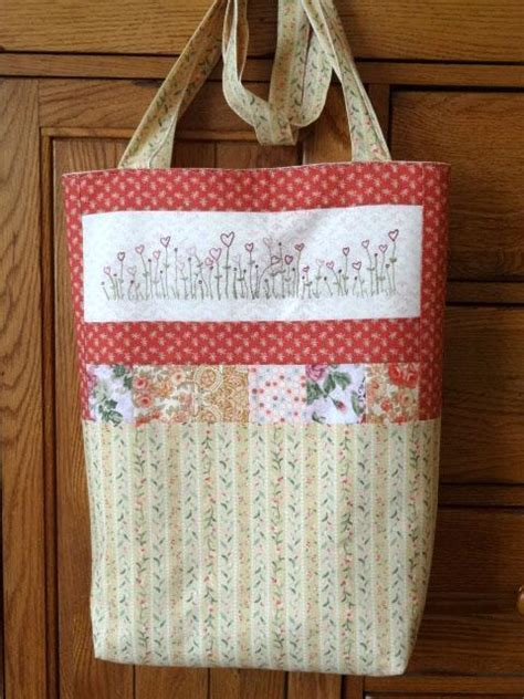 embroidered tote bag pattern wildflower hearts embroidered tote bag by countrygarden