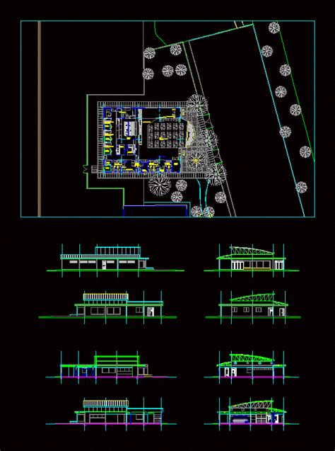 dining industrial  autocad  cad   mb