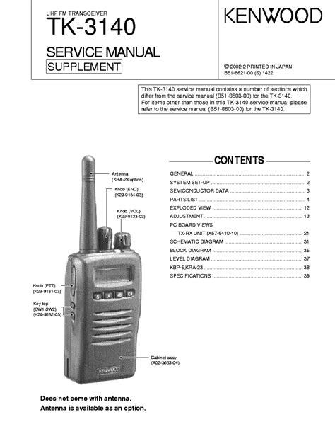 Kenwood Tk 3140 Service Manual Download Schematics